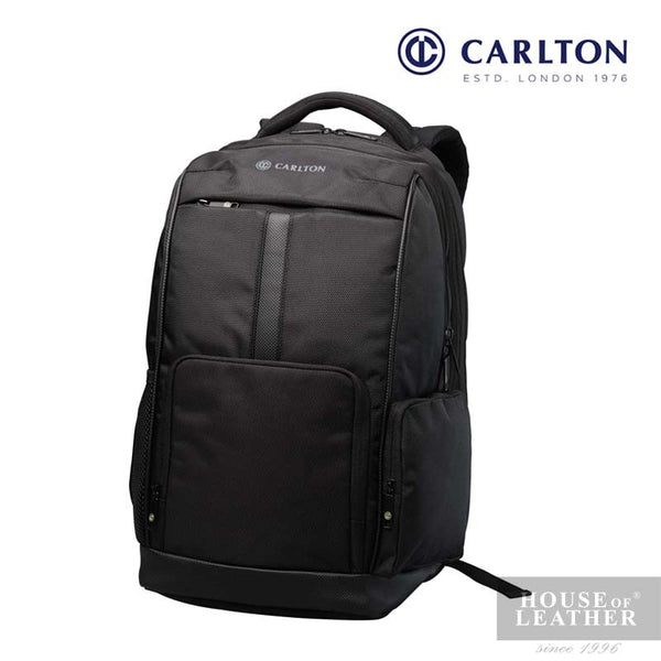 CARLTON Hampton III Laptop Backpack - Black - Leatherhouse2u  - 1