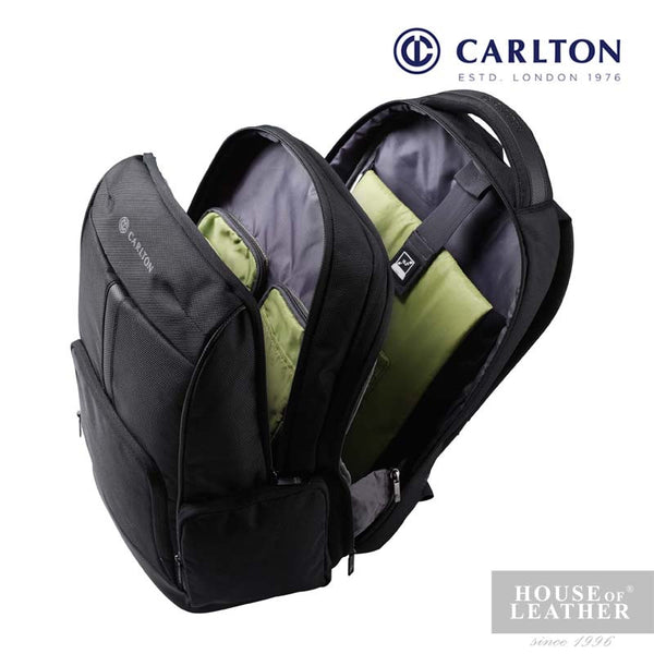 CARLTON Hampton III Laptop Backpack - Black - Leatherhouse2u  - 2