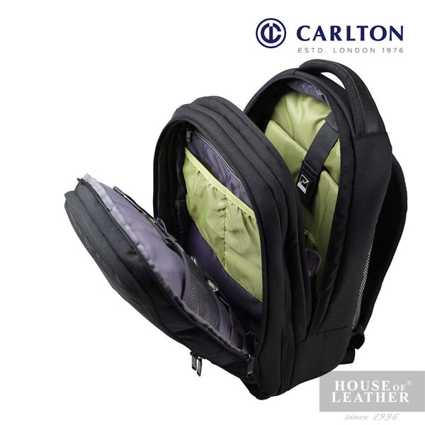 CARLTON Hampton III Laptop Backpack - Black - Leatherhouse2u  - 3