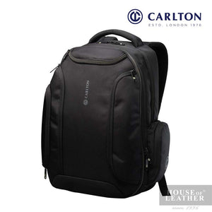 CARLTON Hampton I Laptop Backpack - Black - Leatherhouse2u  - 1