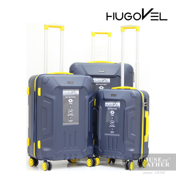 HUGOVEL Megatron HV-02 Trolley Case - Dark Blue - Leatherhouse2u  - 1