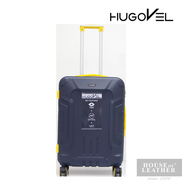 HUGOVEL Megatron HV-02 Trolley Case - Dark Blue - Leatherhouse2u  - 2