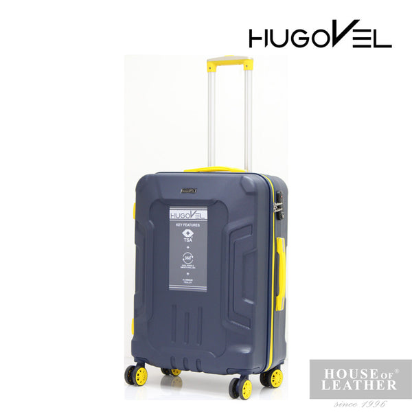 HUGOVEL Megatron HV-02 Trolley Case - Dark Blue - Leatherhouse2u  - 3