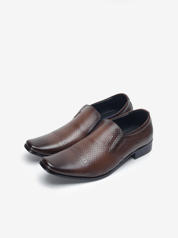 LR Larrie Dark Brown Perforated Business Shoes 901604-TL2SV-32