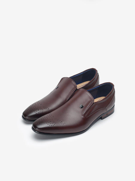 LR Larrie Dark Brown Pinned Business Shoes 901703-TL1-32