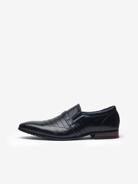 LR Larrie Black Leatherette Business Shoes 901703-TL2-1