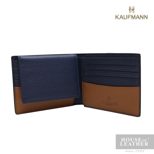 KAUFMANN BIEBER YS-48-28-1799 FLAP UP WALLET - BLUE