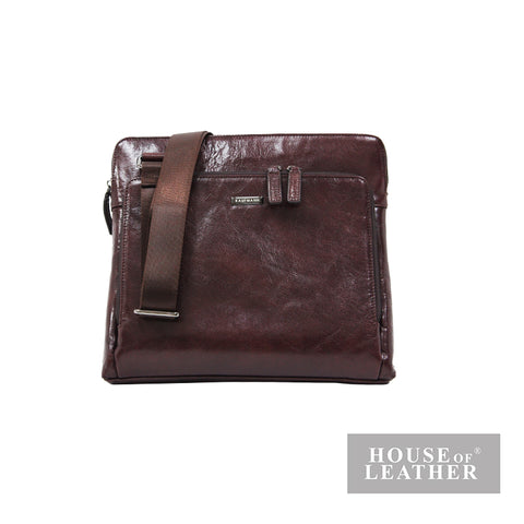 KAUFMANN DAVISON YS-32-29-1777 SHOULDER BAG - BROWN