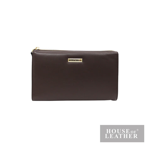 KAUFNANN KEN YS-30-36-1849 CLUTCH BAG - BROWN