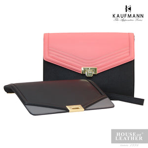 KAUFMANN Sydney KLB0001-5 Clutch Bag With Sling - Pink - Leatherhouse2u  - 1