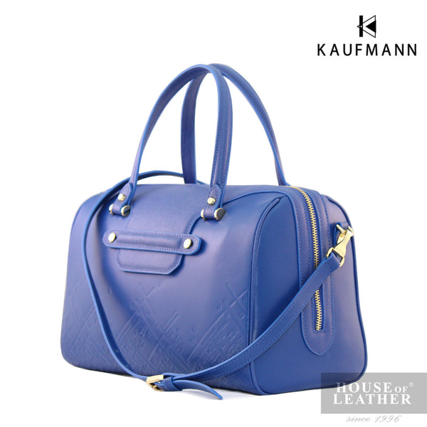 KAUFMANN Vesper KLB0006-2 Handbag With Sling - Blue - Leatherhouse2u  - 2