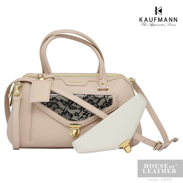 KAUFMANN Stacey KLB0009-2 Handbag With Sling - Beige - Leatherhouse2u  - 1
