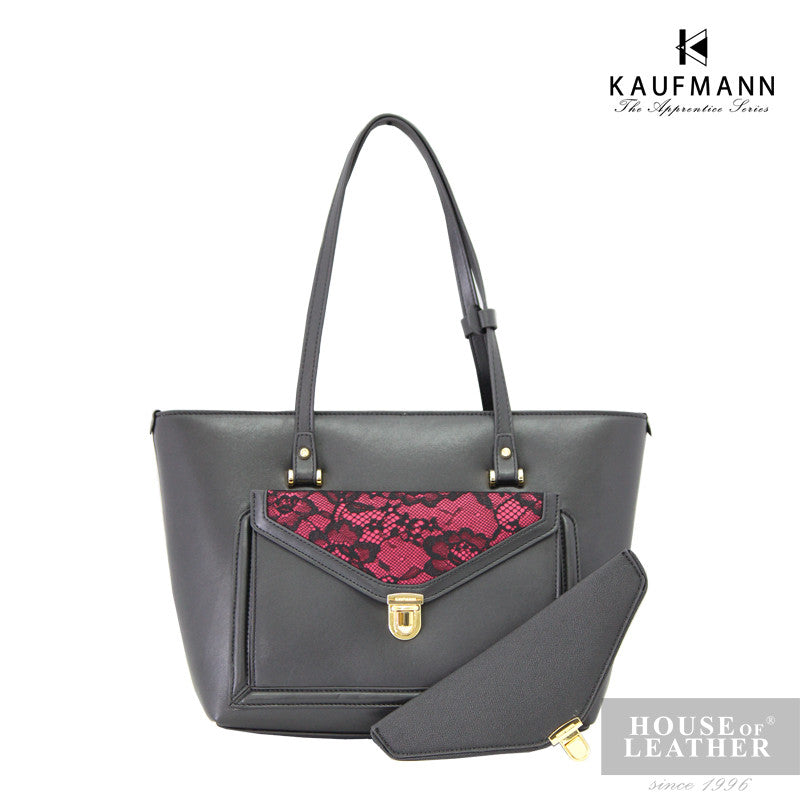 KAUFMANN Stacey KLB0009-4 Shoulder Bag - Black - Leatherhouse2u  - 1