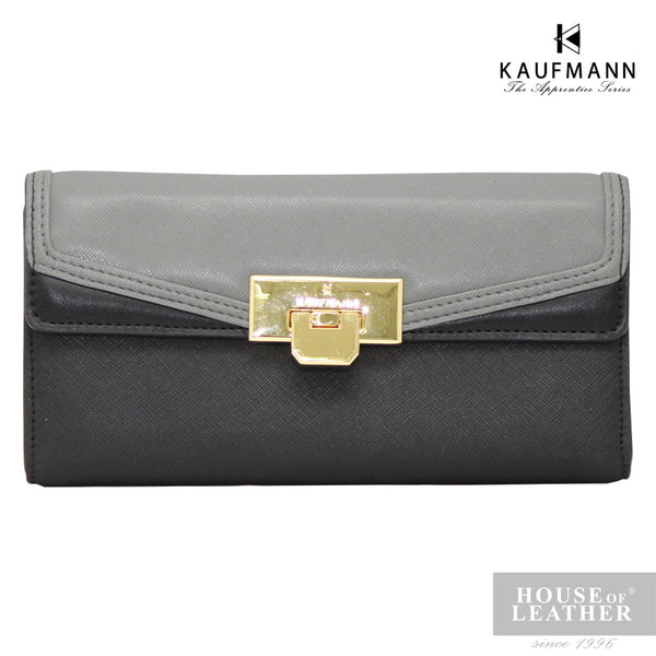 KAUFMANN Sydney KLW0001-1 Long Wallet Buckle - Grey - Leatherhouse2u  - 1