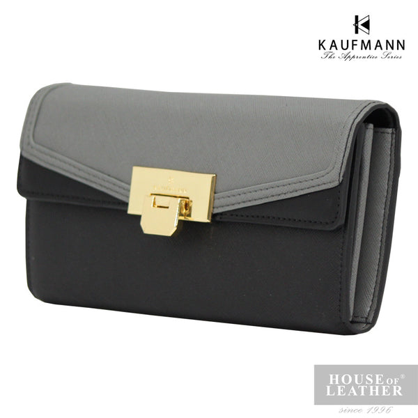 KAUFMANN Sydney KLW0001-1 Long Wallet Buckle - Grey - Leatherhouse2u  - 2