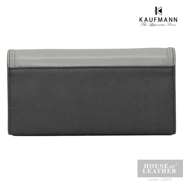 KAUFMANN Sydney KLW0001-1 Long Wallet Buckle - Grey - Leatherhouse2u  - 3