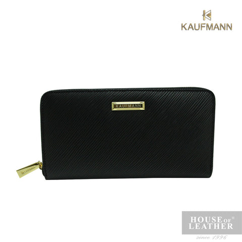 KAUFMANN VICTORIA I & II YS-49-28-1661 LONG WALLET W ZIP - BLACK