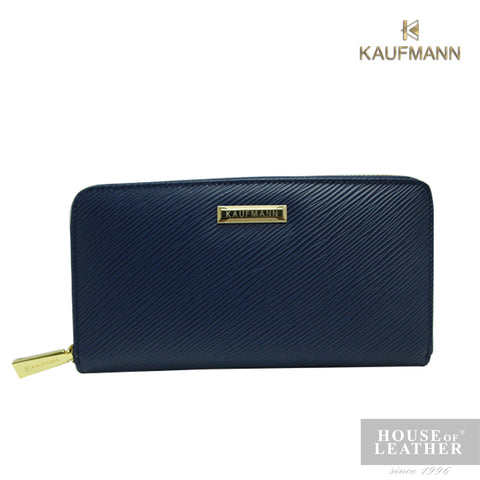 KAUFMANN VICTORIA II YS-49-28-1661 LONG WALLET W ZIP - BLUE