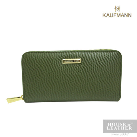KAUFMANN VICTORIA II YS-49-28-1661 LONG WALLET W ZIP - ARMY GREEN