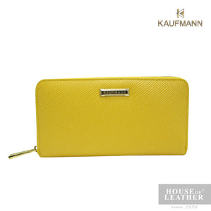 KAUFMANN VICTORIA II YS-49-28-1661 LONG WALLET W ZIP - YELLOW