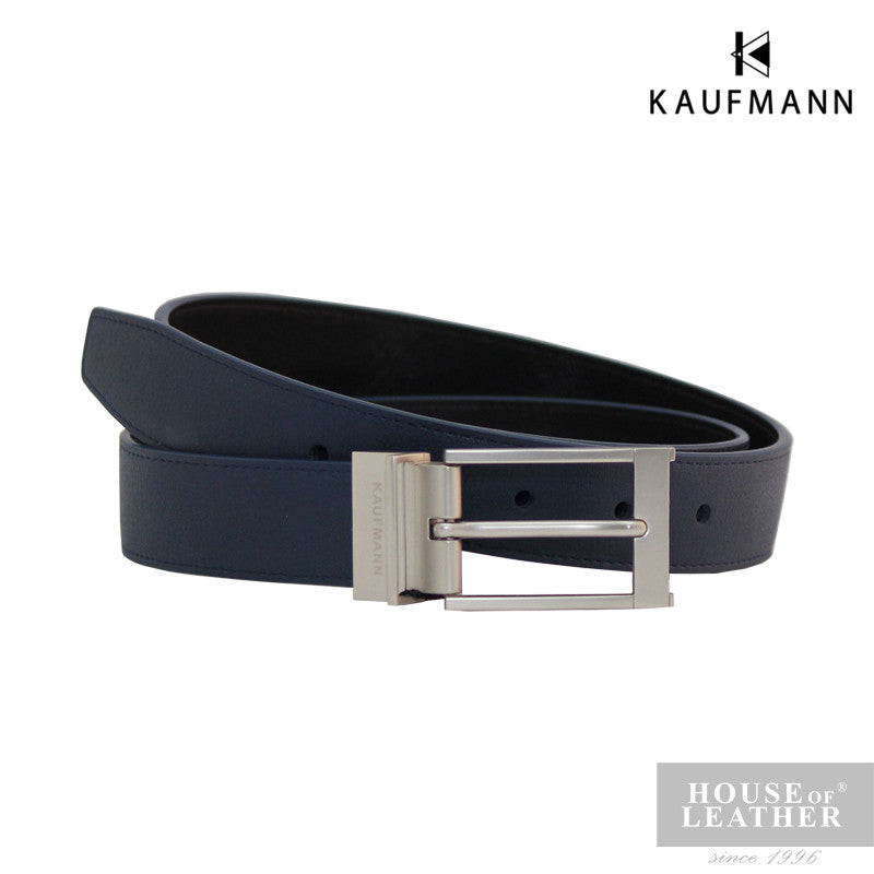 KAUFMANN Carter ML11 Reversible Belt - Blue - Leatherhouse2u