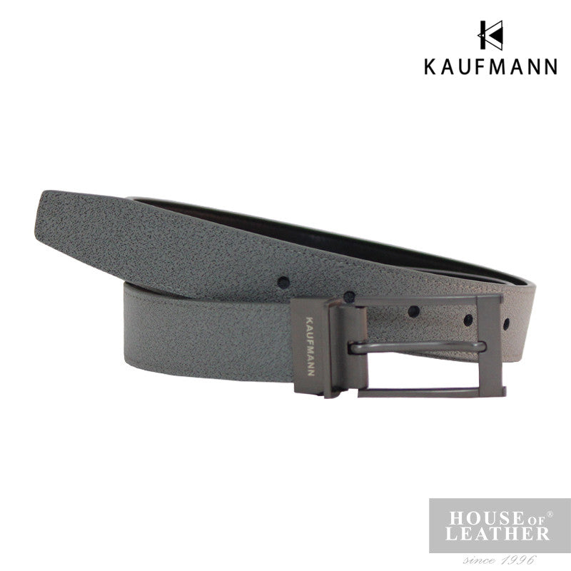 KAUFMANN Carter ML12 Reversible Belt - Grey - Leatherhouse2u