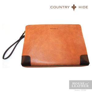 COUNTRY HIDE Louis M406 Clutch Bag - Brown - Leatherhouse2u  - 1