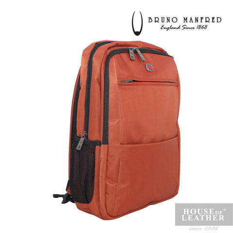 BRUNO MANFRED Max Backpack - Orange - Leatherhouse2u  - 1