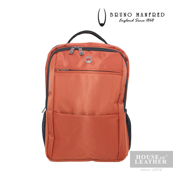 BRUNO MANFRED Max Backpack - Orange - Leatherhouse2u  - 2