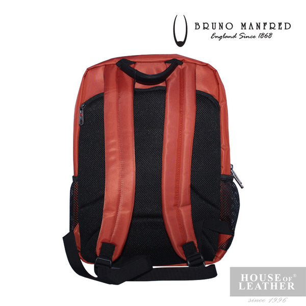 BRUNO MANFRED Max Backpack - Orange - Leatherhouse2u  - 3