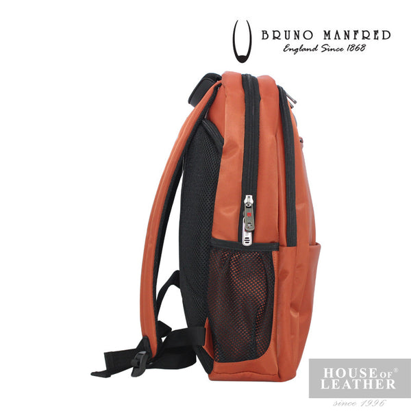 BRUNO MANFRED Max Backpack - Orange - Leatherhouse2u  - 4