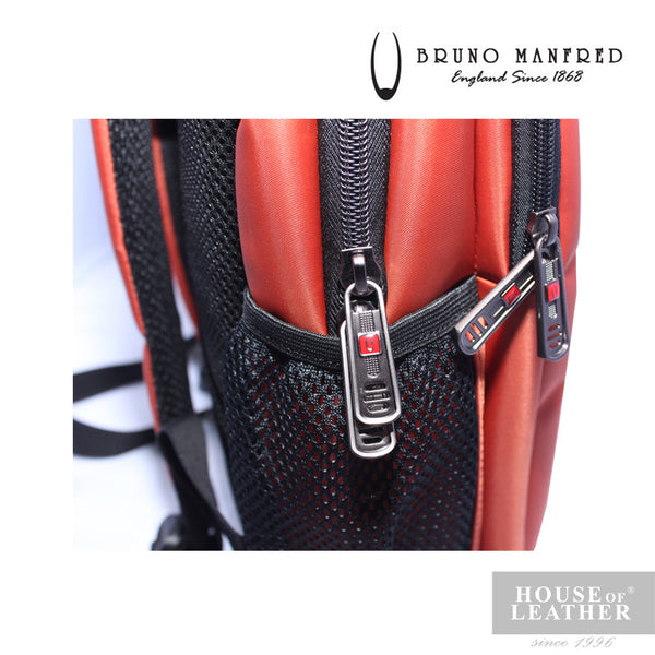 BRUNO MANFRED Max Backpack - Orange - Leatherhouse2u  - 5