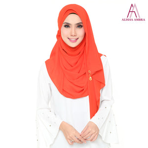 MISS ALISHA PREMIUM - Bright Orange - Leatherhouse2u  - 1