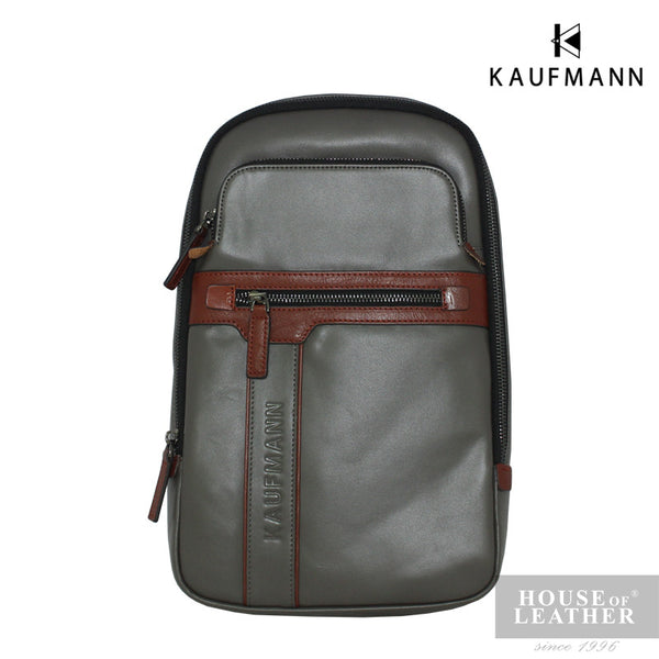 KAUFMANN Maxim YS-32-29-1657 Crossbody Bag - Grey - Leatherhouse2u  - 1