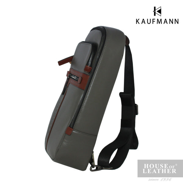 KAUFMANN Maxim YS-32-29-1657 Crossbody Bag - Grey - Leatherhouse2u  - 2