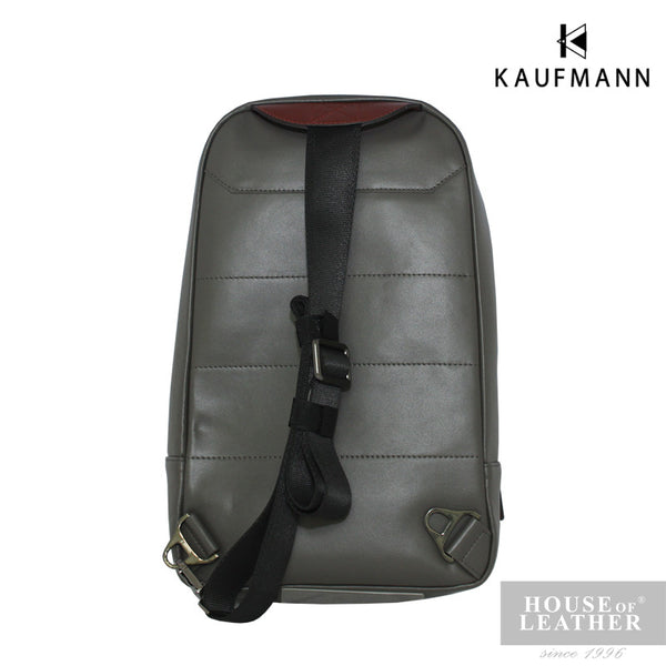 KAUFMANN Maxim YS-32-29-1657 Crossbody Bag - Grey - Leatherhouse2u  - 3