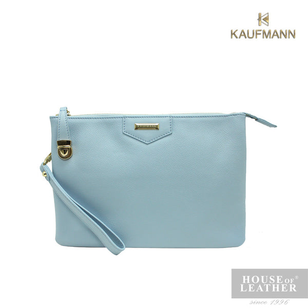 KAUFMANN BAILEY KLB0017-5 CLUTCH W SLING - LIGHT BLUE