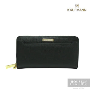 KAUFMANN BAILEY YS-49-28-1753 LONG ZIP WALLET - BLACK