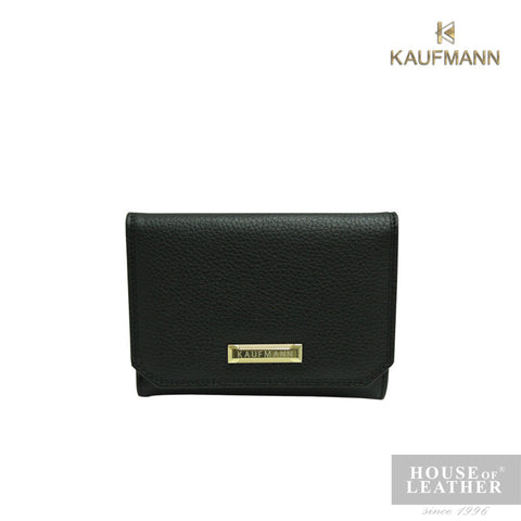 KAUFMANN BAILEY YS-49-28-1754 SMALL ZIP WALLET - BLACK