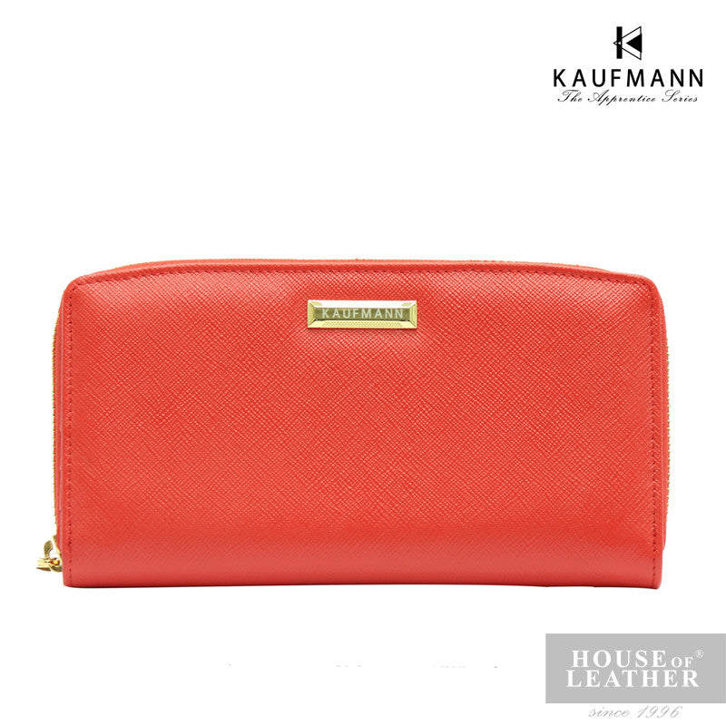 KAUFMANN BRITTANY MLY16001-2 L/ZIP WALLET - RED