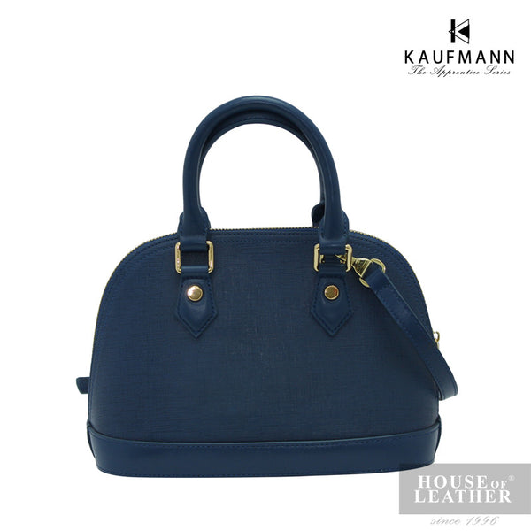 KAUFMANN BROOKLYN YS-43-35-1689 Handbag w Sling - Blue - Leatherhouse2u  - 2