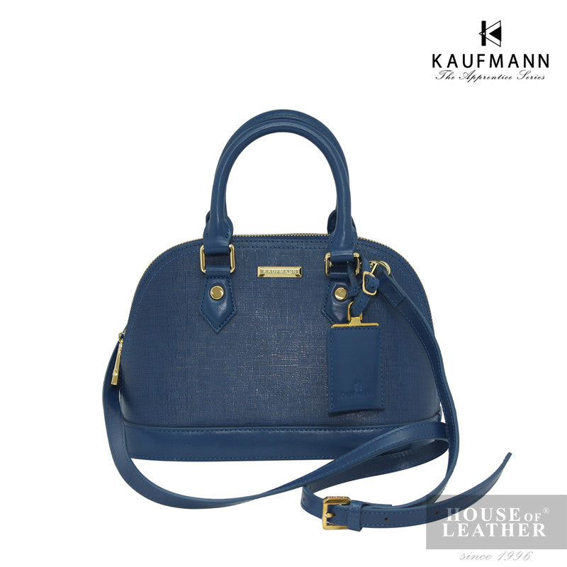 KAUFMANN BROOKLYN YS-43-35-1689 Handbag w Sling - Blue - Leatherhouse2u  - 1