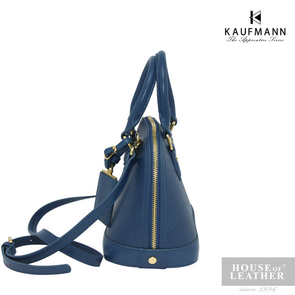 KAUFMANN BROOKLYN YS-43-35-1689 Handbag w Sling - Blue - Leatherhouse2u  - 3