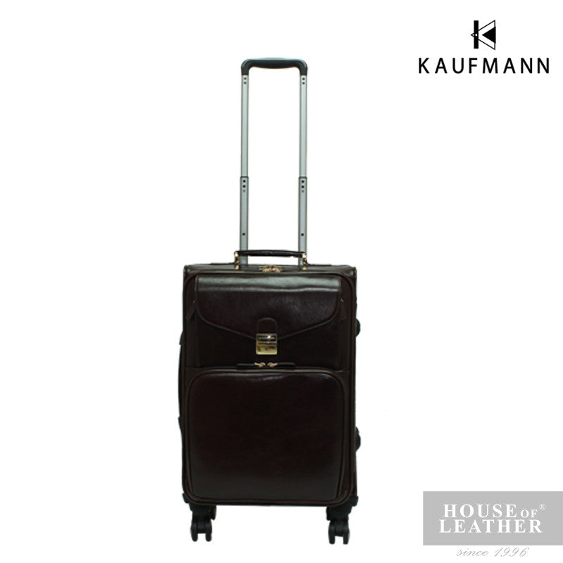 KAUFMANN KINGSTON YS-39-33-1714 TROLLEY CASE - DARK BROWN