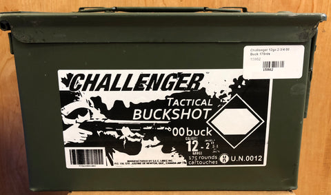 Challenger 12ga in Ammo Can Ammunition