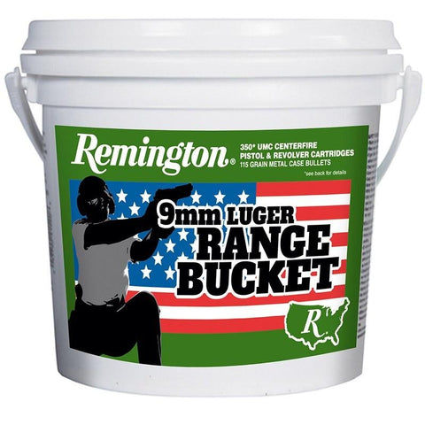 Remington Range Bucket 9mm 115gr FMJ 350rds Ammunition