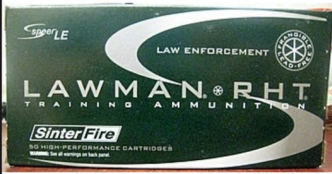 Speer Lawman RHT .40 S&W Frangible Ammunition