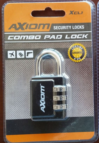 Axiom 30mm Padlock Combination
