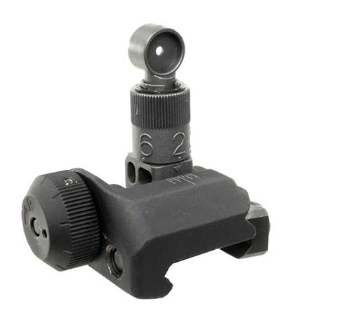Knight's Armament Folding Rear Sight, 200-600 Meter Adjustable