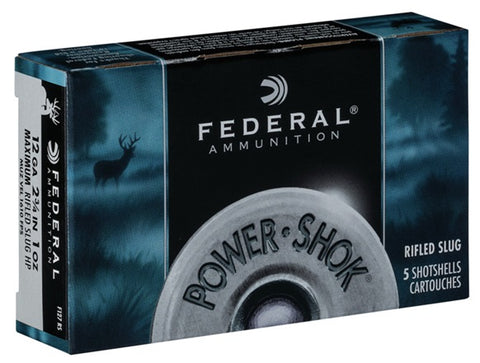 Federal Power-Shok Rifled Slug HP 12ga 2 3/4in Shotshells